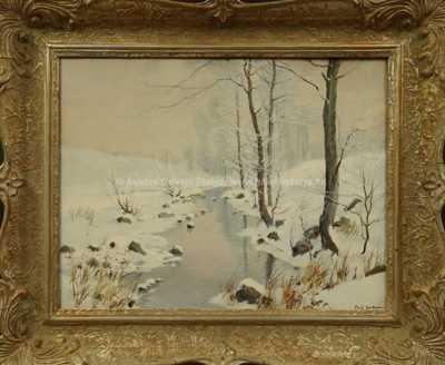 Gustav  Porš - Zimní potůček