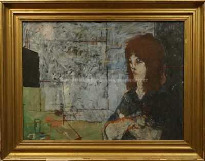 Richard Wiesner - Sedící dívka