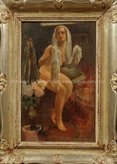 Otto Peters - Dívka s šátkem