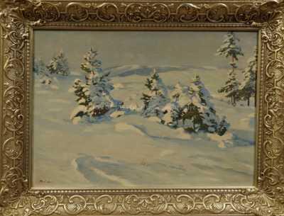 Gustav  Porš - Zima v horách