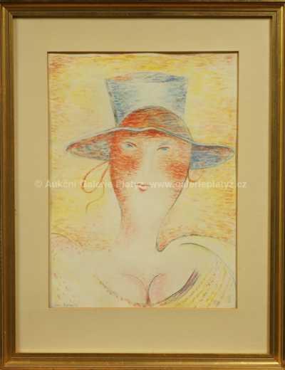 Portrét ženy v klobouku