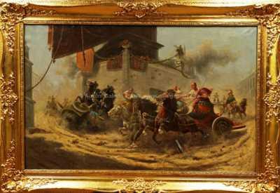 Adolf (Constantin) Baumgartner - Stoiloff - Závody vozatajů v Římě