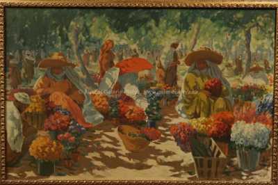 Antonín Procházka - Květinový trh v Marakeši