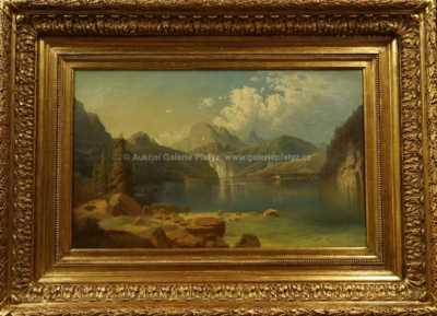 Adolf Chwala - Jezero Königsee v Alpách