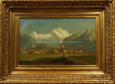 Adolf Chwala - Městečko v Alpách