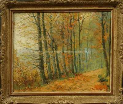 Gustav  Porš - Podzim v lese