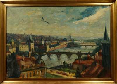 Oldřich Koníček - Pohled na Prahu