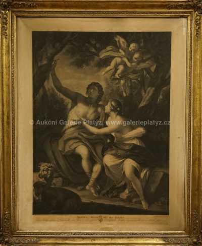 Angelica a Medor s pastýři