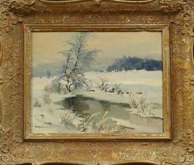 Gustav  Porš - Zimní nálada