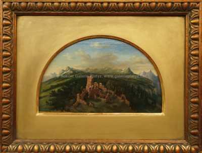 Trosky hradu na kopci