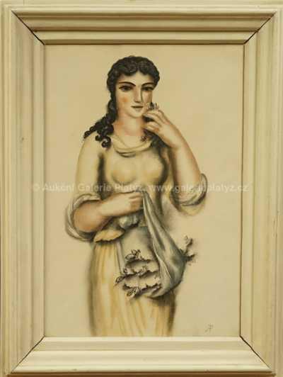 Antonín Procházka - Dívka s ošatkou
