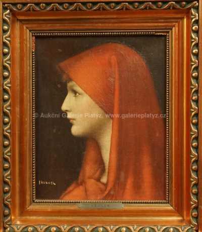 Portrét dívky v červeném