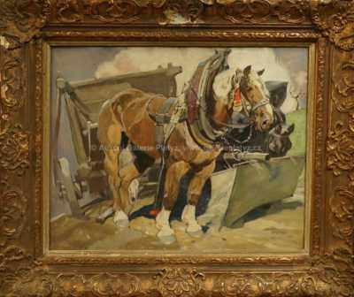 Ludvík Vacátko - Koně při odpočinku