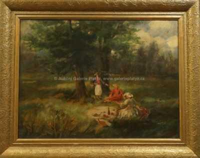 Viktor  Rolín - Posezení v trávě