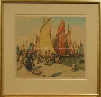 Rybáři v Bretani