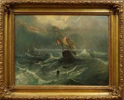 Autor neurčen - Lodě v bouři