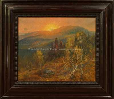 Carl Brandt - Západ slunce