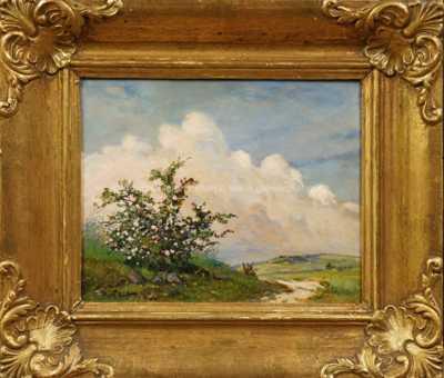 Gustav  Porš - Kvetoucí šípek v poli