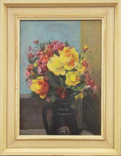 Karel Souček (Bor) - Květiny ve džbánu