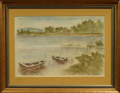 Jan  Zrzavý - Bárky na rybníku