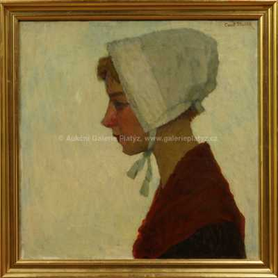 Camill Stuchlík - Mladá dívka v čepci