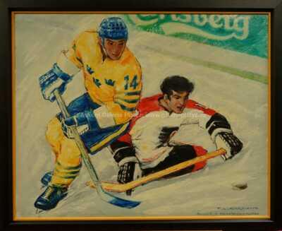 František  Kardaus - Hokejový zápas