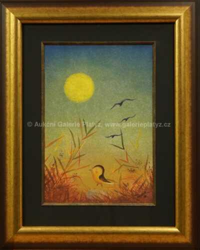 Ptáček v travách