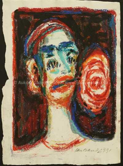 Jan  Bauch - Klaun s růží