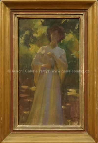 Dívka v bílých šatech