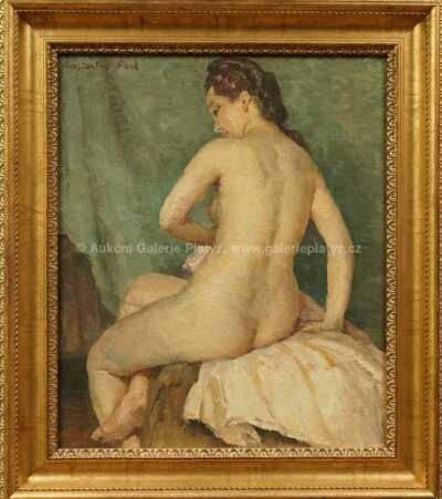 Constantin Font - Akt sedící ženy