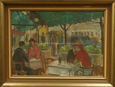 František  Turek - V kavárně