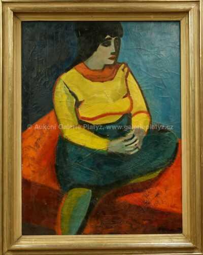 Karel Vaca - Dívka ve žlutém svetru
