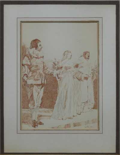 Josef Liesler - Skica k francouzským hercům