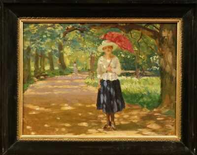 Jan Mikule - Žena v parku