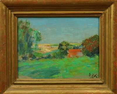 Miloslav  Holý - Červená střecha ve stromech