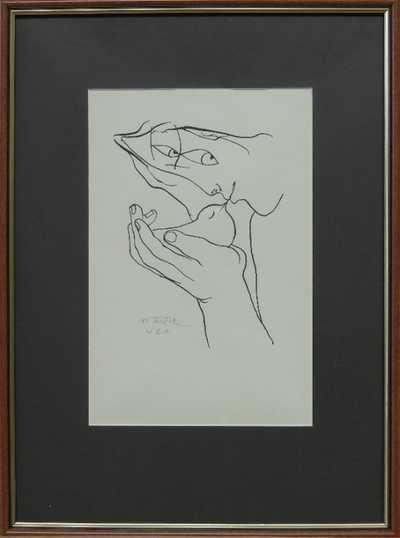 Ota Janeček - Dívka držící ptáčka v dlani
