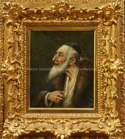 Autor neurčen - Portrét rabína