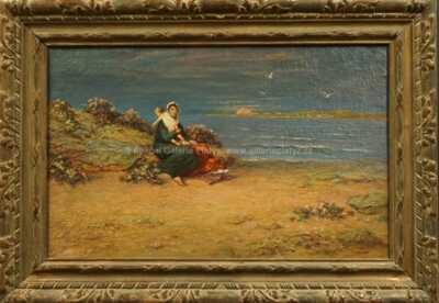 Beneš (Benedikt Julius) Knüpfer - Na mořském břehu