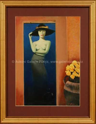 Lutobor Hlavsa - Žena v klobouku