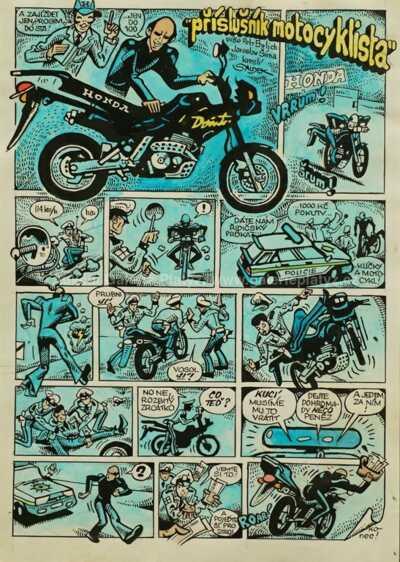 Kája Saudek - Příslušník motocyklista