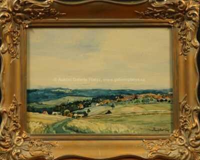 Josef Jambor - Krajina s vesničkou