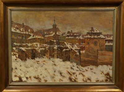 Stanislav Feikl - Kozí ulice v zimě