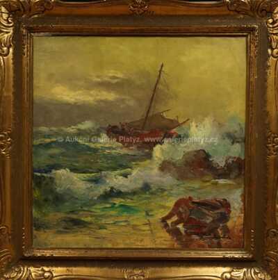Josef  Svoboda - Rybáři v příboji