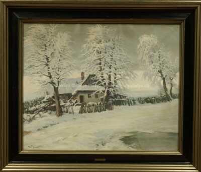 Gustav  Porš - Zimní usedlost