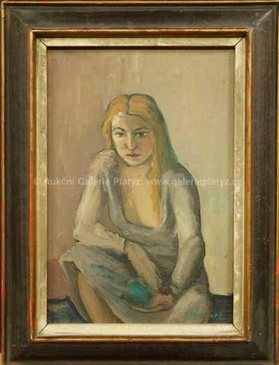 Otakar Marvánek - Sedící dívka