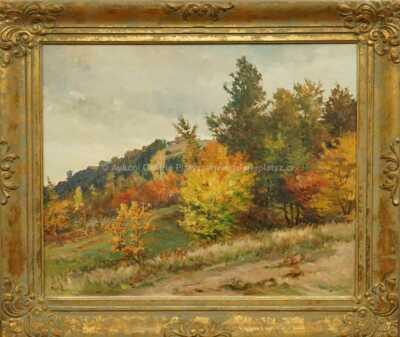 Gustav  Porš - Podzim u cesty