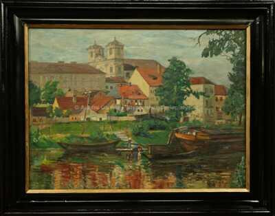 Josef Multrus - Na řece pod městem