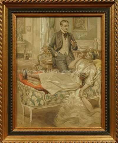 František Bohumil Doubek - V kuřáckém salonu