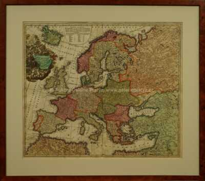 Jan Baptista Homann - Mapa Evropy