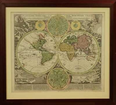 Jan Baptista Homann - Mapa světa